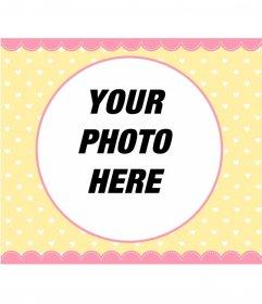 Pastel color photo frame