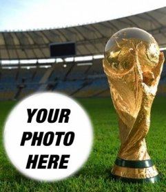 Photomontage with the world cup to put a photo into a ball shape