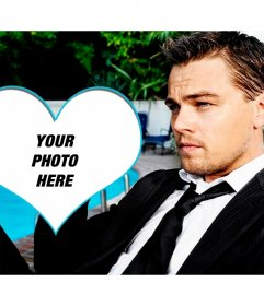 Put your picture in a heart with Leonardo Dicaprio