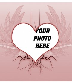 Montage of a winged heart tattoo to put as frame for your photographs