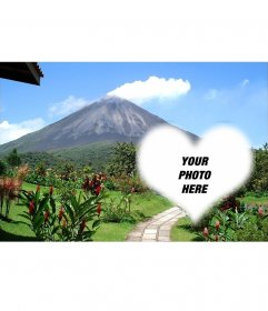 Postcard of Arenal Volcano to decorate your image