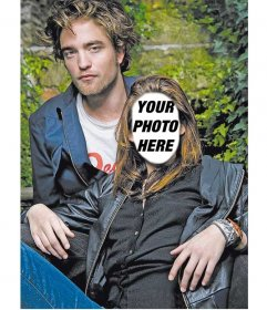 Photomontage to put a face to Kristen Stewart, with Robert Pattinson