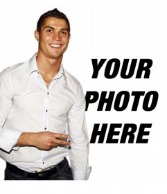 Photo montage to put your photo with Cristiano Ronaldo
