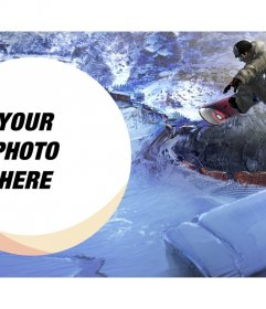 Wallpaper to put your photo along with a snowboarder