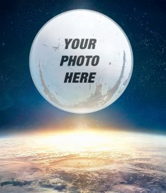 Photomontage the Destiny game with your picture on the moon