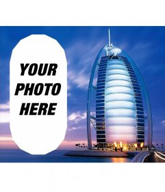 Photomontage with a landscape Dubai