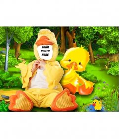 Online duck costume for children that you can edit for free