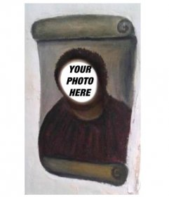 Photomontage of the restoration of Ecce Homo, (Ecce Mono) to do with your photo