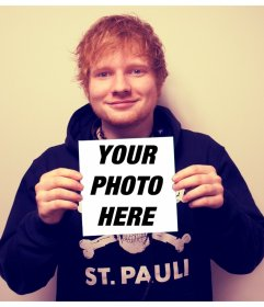 Appear over the cover of X by Ed Sheeran clutching your photograph