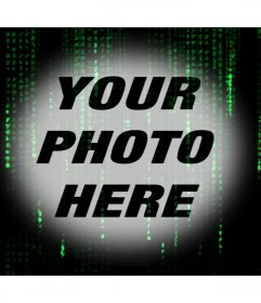 Matrix code effect with green letters over your photo