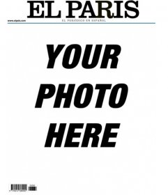 Your picture in a frame imitating the cover of a newspaper called The Paris. Edit the front page of this newsletter with a picture you have to climb. You can add text and appear in print, albeit in jest