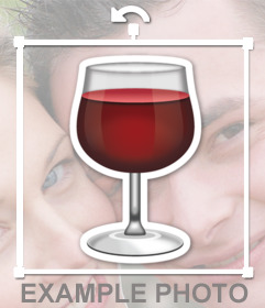 Red wine cup to add on your images as a decorative sticker
