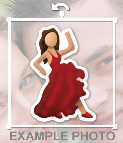 Emoticon of a flamenco dancing from whatsapp