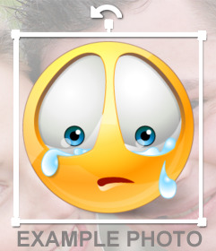Sad emoticon to put your photos