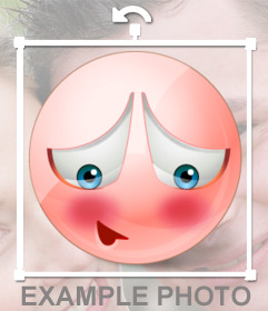 Emoticon shame to put your photos