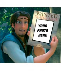 Photomontage of Flynn Rider