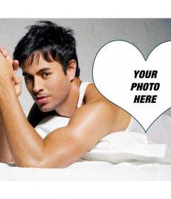 Photomontage with singer Enrique Iglesias