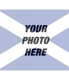 Special Collage with the Scottish flag