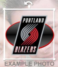 Sticker with the logo of the Portland Blazers