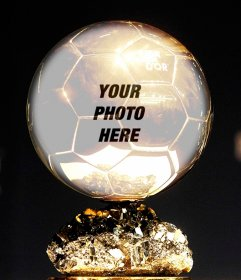 Photomontage with Golden Ball to put your photo