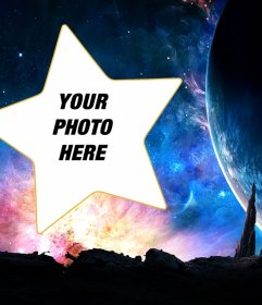 Galaxy photomontage to put your photo into a star