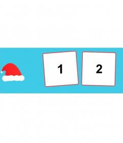 Cover photo of Christmas to your social networks to add two photos