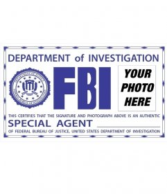 Photomontage of FBI ID badge