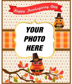 Thanksgiving postcards and frames