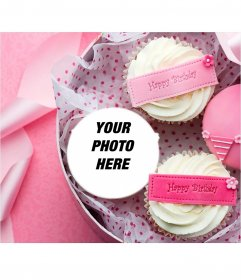 Postcard to put your photo on a cupcake