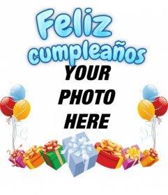 Photomontage as a birthday greeting card