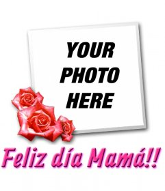Card for Mother's Day with the text TE QUIERO MAMÁ!