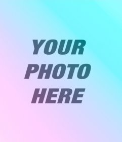 Filters blue and lilac to apply to your photo