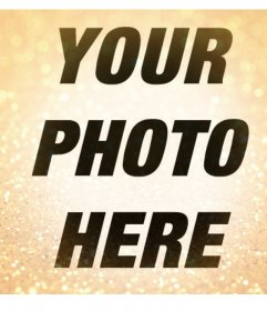 Gold glitter to decorate your photos and for free