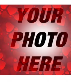 Filter with many red hearts to add to your photos
