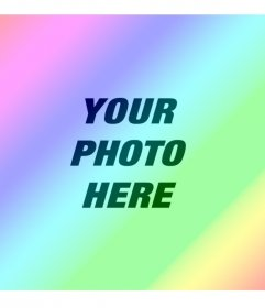 Photo filter with diagonal colorful rainbow to give gradient color effect to your images