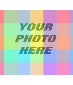 Online photo Filter with multiple squares with a lot colors to color your images in a very fun and different way