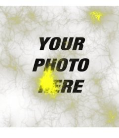 Strange photo with yellow lights or neurons ray type to put on your photos and edit them online