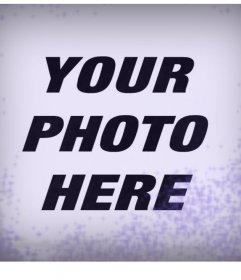 Violet filter effect with a rustic touch to add to your photos