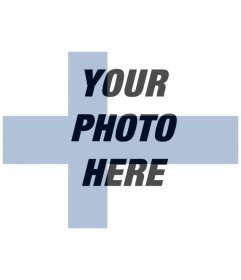 """Creates a photo montage with the flag of Finland""""s your background image"""