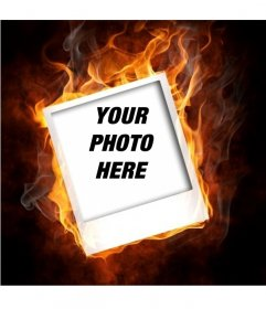 Framework that simulates your photo is on fire