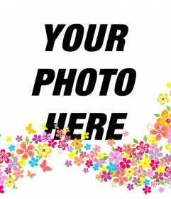 Add decorative flowers on your photos by uploading them to this online effect