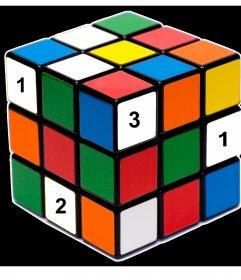 Original effect to add four photos inside the Rubik cube