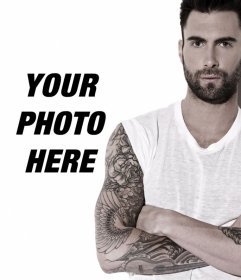 The sexy Adam Levine in your photos uploading them to this photo effect