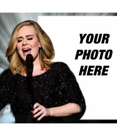Editable photo effect with Adele singing for uploading your photo