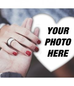Romantic engagement photo effect to edit with your photo