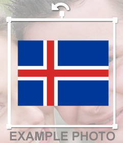Flat Iceland flag to add in your photos and decorate online