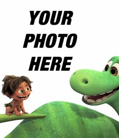 Photo effect of the film A Great Dinosaur to do with your photo