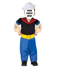 Mounting of a disguise online of Popeye the Sailor Man for children