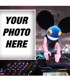 Upload your photo if you like the famous DJ Deadmau5 and for free