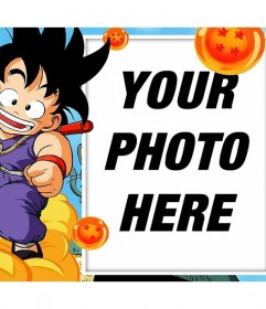 Photomontages and frames with Son Goku